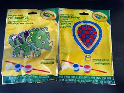 Crayola Paint Your Own Wood Mobile Toy, Balloon & Dinosaur,