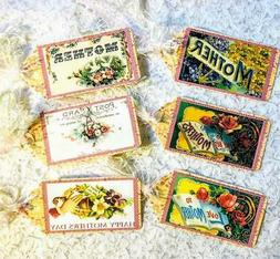 Set of 6 Hang Tags~Vintage Mothers Day~Small Gift Tags~Scrap