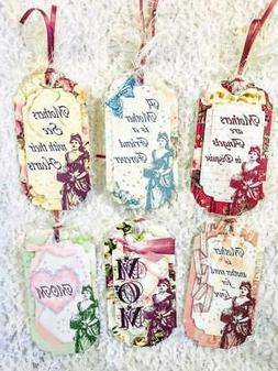 Set of 6 Hang Tags~Vintage Mothers Day Love~Gift Tags~Scrapb