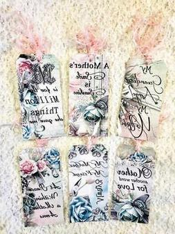 Set of 6 Hang Tags~Vintage Mothers Day Saying~Gift Tags~Scra