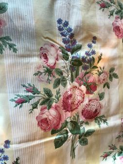 MARTHA STEWART Shabby Cabbage Roses Pink Yellow Home Dec Fab