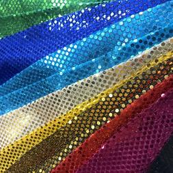 Shiny Sequin Dot Confetti Fabric for Sewing Costumes Apparel
