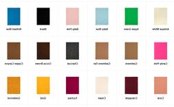 "Soft Felt Sheet 1 or 2 mm Various Solid Colors 9x12"" New Per"