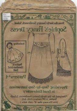 """Sophie's Fancy Dress Pattern for 18"""" Cloth Dolls, North Coun"""