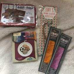 Janlynn sports cross stitch + xtra thread pack