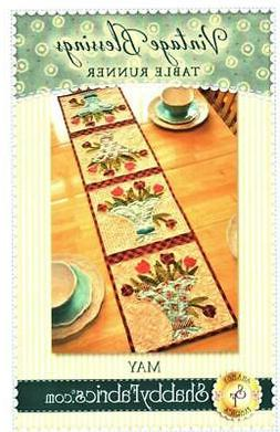 Spring May Flower Basket Table Runner Sewing ~ Quilt Pattern