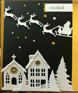 Stampin Up BELIEVE cm stamp & BUILD A HOLIDAY SCENE LAYERING