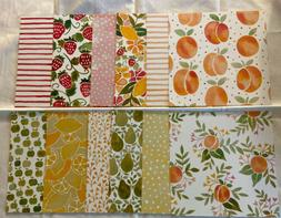 """Stampin Up Fruit Stand Scrapbook Paper 6"""" x 6"""" DSP-12 Sheets"""