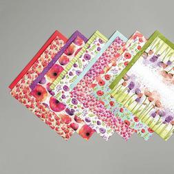 Stampin Up Peaceful Poppies Designer Series Paper 6x6