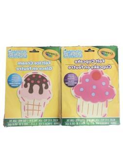 Crayola Stitch It For Kids Felt Cupcake And Ice Cream DIY Cr