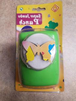 """SUPER JUMBO CRAFT PUNCH  MAKES  1 3/4"""" BUTTERFLY FOR PAPER C"""