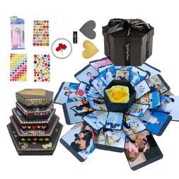 Surprise Explosion gift box Anniversary Scrapbook DIY Photo