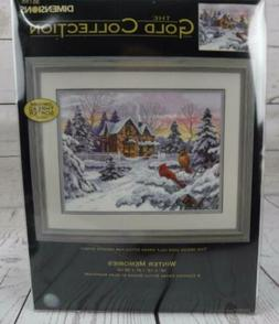 Dimensions The Gold Collection Winter Memories Counted Cross