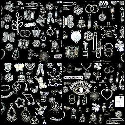 Tibetan Silver Mixed Charms Beads Jewellery Making Crafts  M