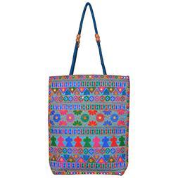 HANDMADE TOTE BAG EMBROIDERED INDIAN CRAFTS BAG SHOULDER BAG