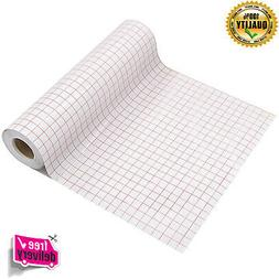 Transfer Paper Tape Roll 12 x 50 FT Alignment Grid Applicati