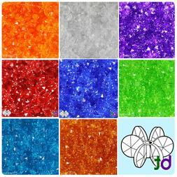 BeadTin Transparent 12mm SunBurst Plastic Craft Beads  - Col