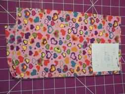 """TWO FAT QTRS. """"CUTE HEARTS"""" Fabric Cotton DIY Face Mask Craf"""