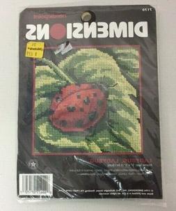 Vintage 1996 Dimensions Lady Bug Cross Stitch Kit Needle Cra