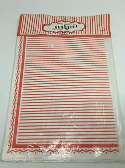 Vintage Red and White Striped Craft Paper New In Package Cra
