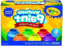 Crayola Washable Kids Paint, 6 Count, Kids At Home Activitie
