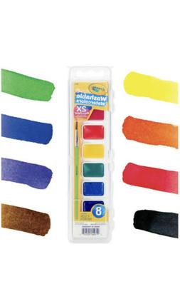 Crayola Washable Watercolors, Paint Set For Kids, 8Count 8 c