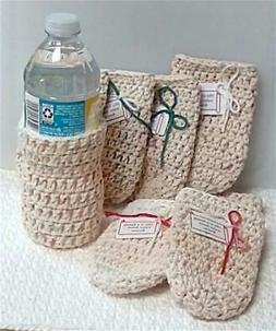 Water Bottle Cozy Handmade Crochet 100% Quality Cotton Yarn