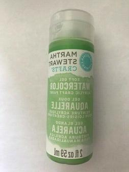 Martha Stewart Crafts WATERCOLOR Acrylic Paint 2 oz~GREEN PE