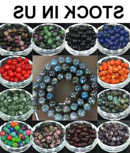 Wholesale Lot Natural Stone Gemstone Round Spacer Loose Bead
