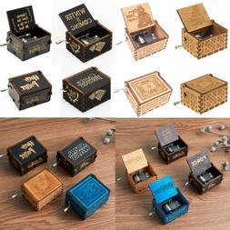 Wooden Handmade Music Box HandCrafts Ornaments Kids Lover Gi