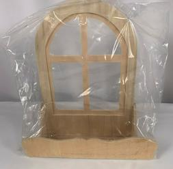 Wood Window Flower Box Crafts Dollhouse Miniatures Rounded T