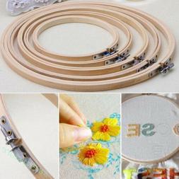 Wooden Cross Stitch Hoop Embroidery Round Frame Craft DIY Se