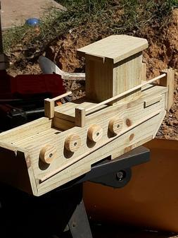 Homemade woodwork crafts, bird houses, bird feeders, shelves