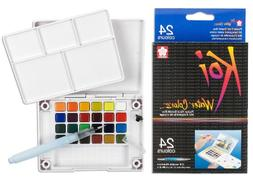 Sakura XNCW-24N, 24 Assorted Watercolors Field Sketch Set wi