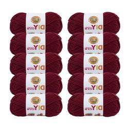 Lion Brand Yarn 205-142 DIYarn Burgundy