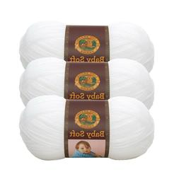 Lion Brand Yarn 920-100 Baby Soft Yarn, White