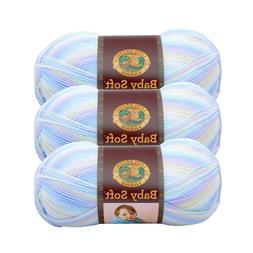 Lion Brand Yarn 920-218 Baby Soft Yarn, Pastel Print